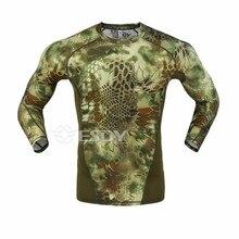 2016 NEUE Tactical Camouflage T-shirt Männer Atmungs Armee Taktische Mesh T-shirt homme Military Quick Dry t-shirt