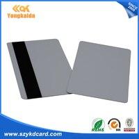 YongKaiDa 1000pcs blank card pvc cr80 with HiCo magnetic stripe card