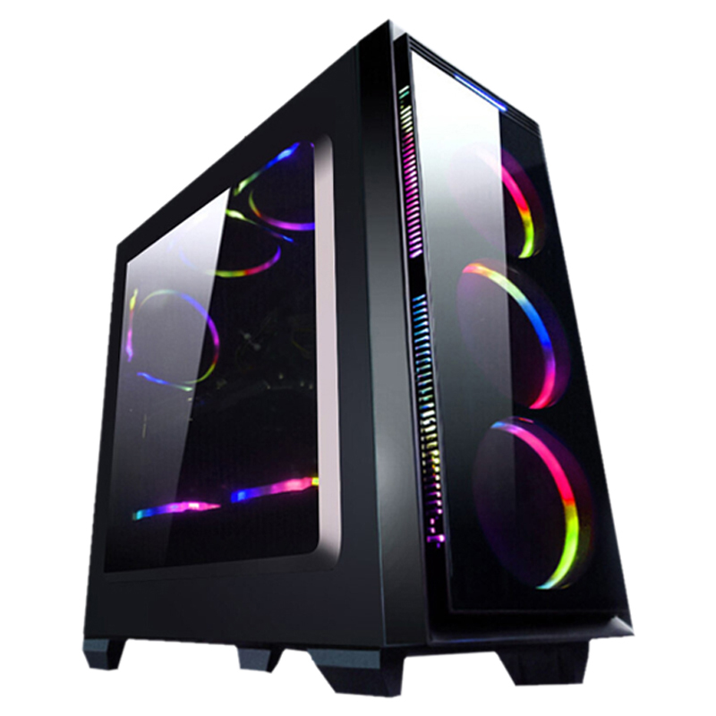 Z1-2 Gaming Desktop PC Intel i7 8700 3.2GHz 120mm Water liquid Cooling GTX 1070Ti 240GB SSD 8GB RAM Computer Home Colorful Fans 5