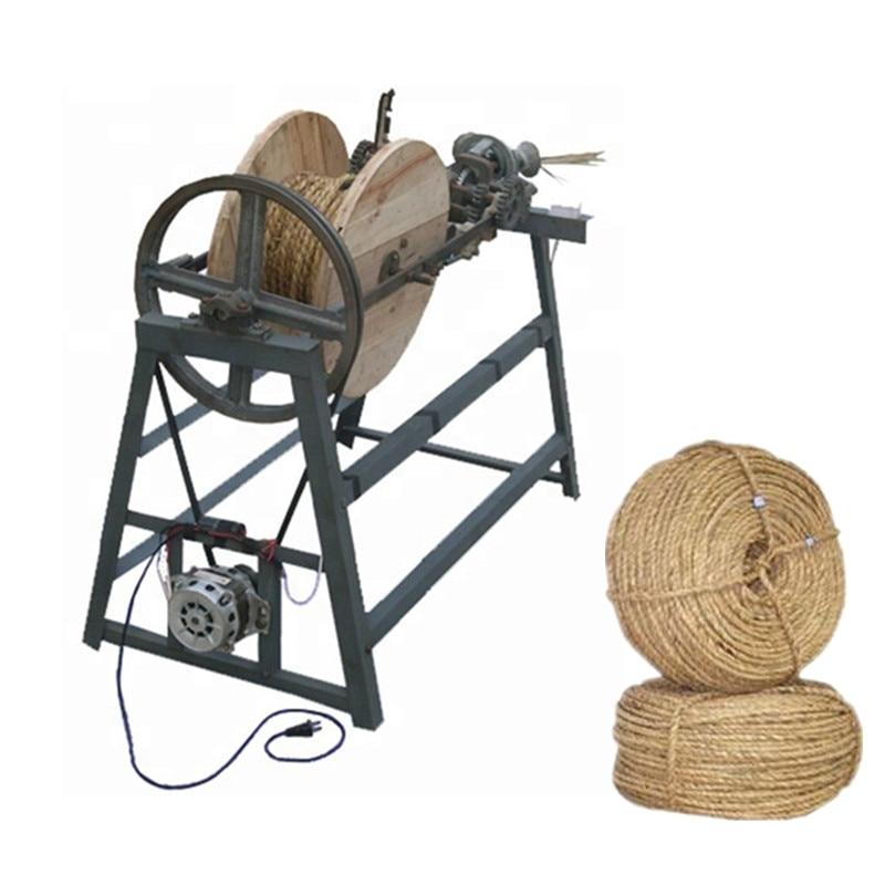 Good quality hemp straw stalk rope making machine hay grass rope twisting knitting machineGood quality hemp straw stalk rope making machine hay grass rope twisting knitting machine