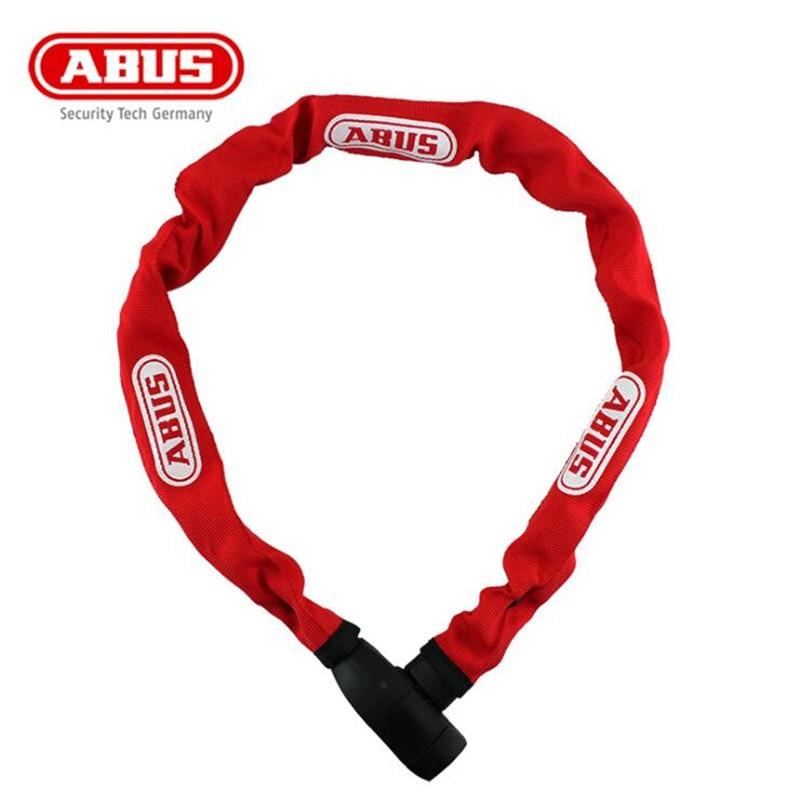 ABUS IONUS 6800 Bicycle Chain Steel Locks MTB Mountain Road Bike 5 Level Security Anti-theft Locks Cycling Riding Lock