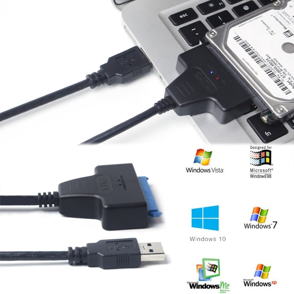 Image 2 - USB 3.0 SATA3 III cable for  Hard Drive Adapter 2.5 Inch SSD & HDD Support Up To 6 Gbps   Support UASP 20cm Install Computer-in Computer Cables & Connectors from Computer & Office