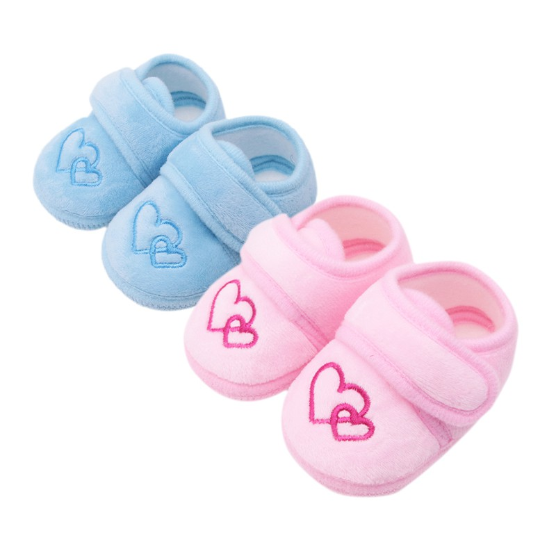 Baby Shoes Boys Girls Toddler First Walkers Cotton Soft Sole Skid-proof Lovely Kids Infant Shoes For 0-18M