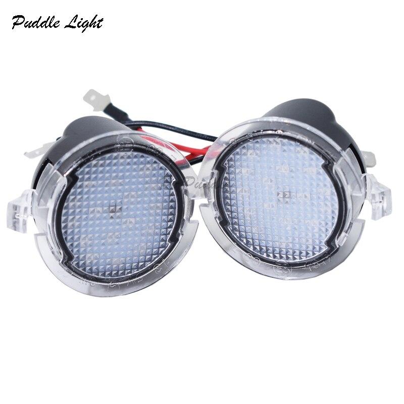פורד 2x עבור פורד LED תחת Mirror שלולית אור F-150 EDGE Explorer מונדיאו שור Flex טווח המוסטנג הוביל אחורי במראה רכב מנורה סטיילינג (1)