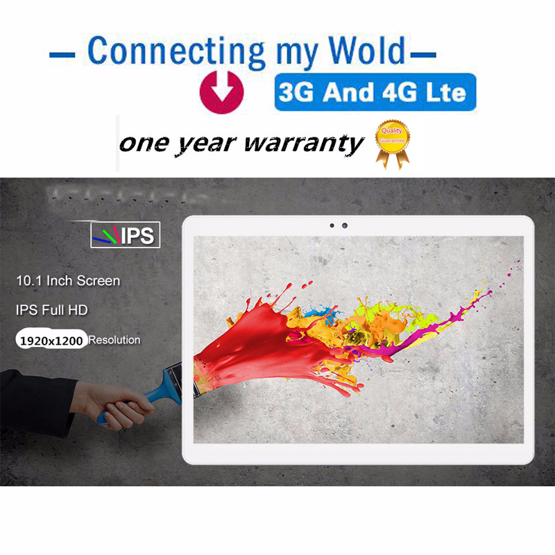 Free Shipping 10.1 Inch 3G 4G LTE Tablet PC Android 8.0 Octa Core RAM 4GB ROM 32GB 64GB Google Certification IPS MT6753 8MP