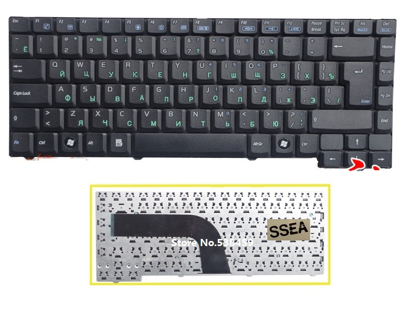 SSEA New Russian Keyboard for ASUS A9T A9 A9R A9Rp X50 X50C X50M X51 X51L X51R X51L X51RL Z94A Z94G Z94L Laptop RU Keyboard
