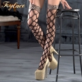 Lady party Lace Top Leopard Stocking