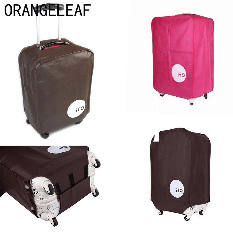 """Travel Suitcase Protective Cover Luggage Case Travel Accessories Non-woven Travel Luggage Suitcase Dust Cover Suit For 20""""-28"""""""
