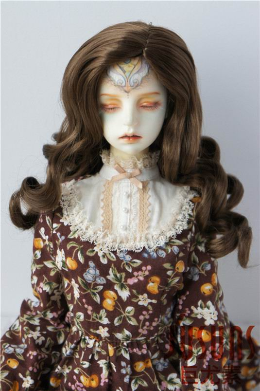 JD343 SD 21-23cm Synthetic mohair doll wig 8-9inch Long curly BJD hair easy to restyle 8 9 bjd wig silver knights of england volume mohair wig spot