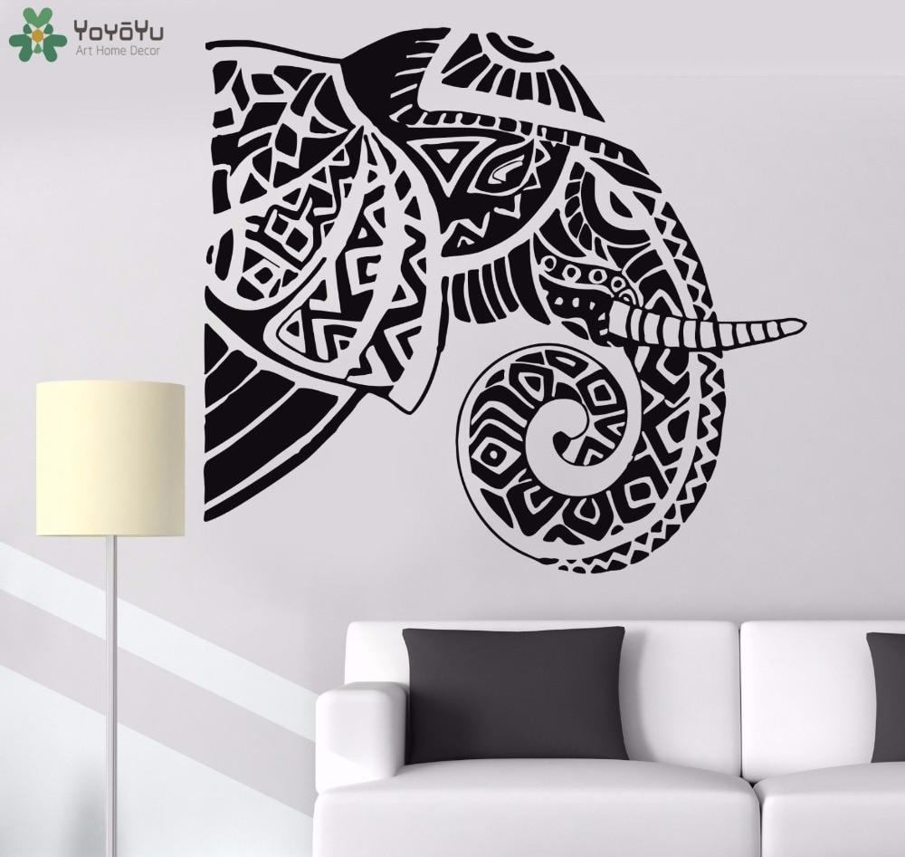 YOYOYU Wall Decal Bohemian Elephant Vinyl Sticker Animal Hindu Home Decoration Accessories Removable Art Mural Design SY860