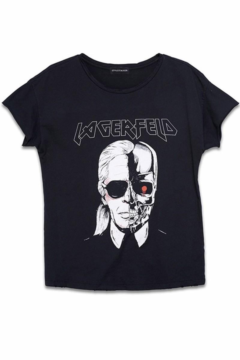 HTB1WoI0MXXXXXXIXFXXq6xXFXXXe - New Skeleton Head Printed Tee In Black Zombie Skull Punk Rock