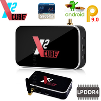 X2 CUBE X2 PRO Smart Android 9.0 TV Box Amlogic S905X2 2GB 4GB DDR4 16GB 32GB ROM 2.4G5G WiFi 1000M Bluetooth 4K HD Media Player
