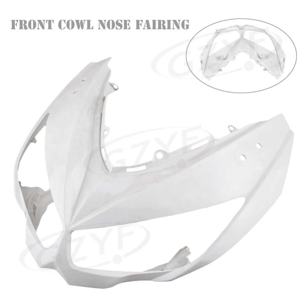 Unpainted Upper Front Cover Cowl Nose Fairing for Kawasaki Z1000 2010 2011 10 11,  Injection Mold ABS Plastic unpainted front nose top fairing for triumph daytona 675 2009 2012 10 11 upper cowl