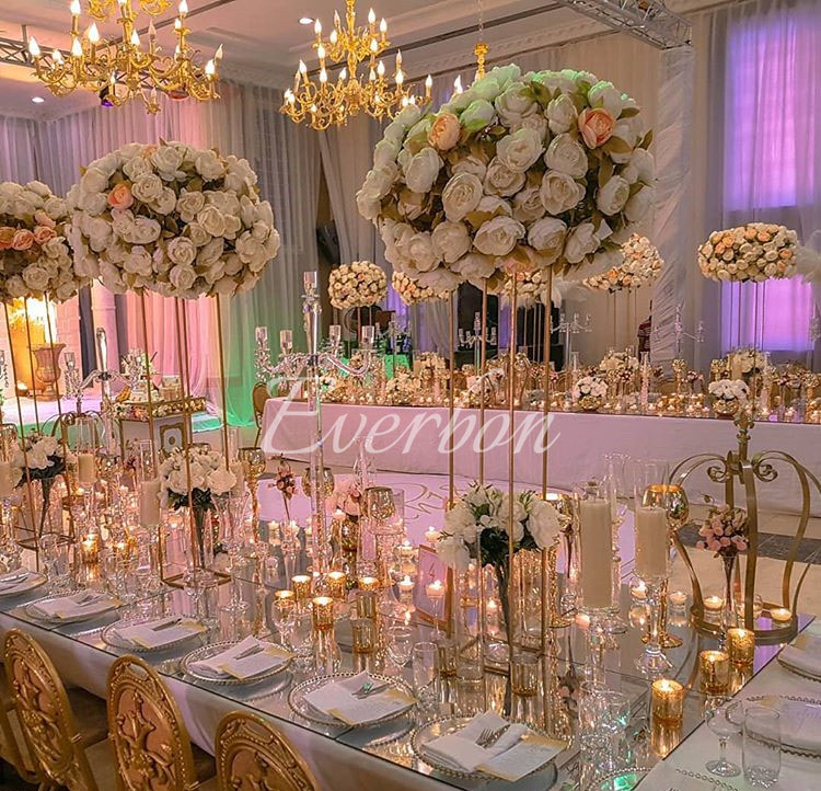 Elegant Wedding Reception Decoration: Aliexpress.com : Buy Wedding Decoration Flower Vase Metal
