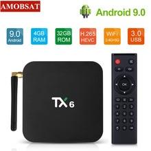 TX6 TV Box android 9.0 Allwinner H6 4GB DDR3 32GB/64GB EMMC 2.4GHz 5GHz WiFi BT4.1 Support 4K H.265 Bluetooth 4.0 IPTV m3u BOX scishion v99 hero android 5 1 tv box arm cortex a53 h 265 4gb 32gb bluetooth 4 0 4k x 2k xbmc suuport usb camera xbmc