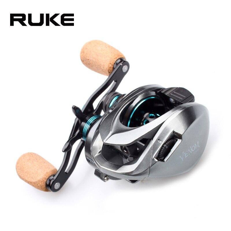 RUKE nouveau moulinet de coulée, moulinet de pêche à Double filetage, 11 + 1 roulement. Force de freinage 8 kg, rapport de vitesse 8.1: 1, livraison gratuite