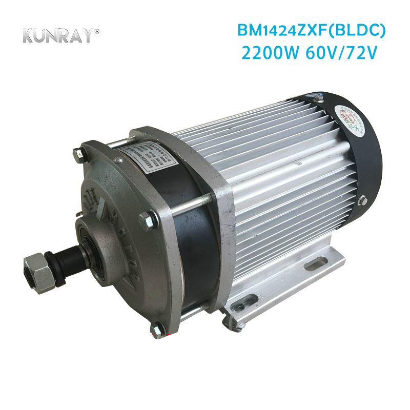 цена на BM1424ZXF 2200W 60V 72V DC Electric Tricycle Brushless Gear Motor For Quad Car Three Four Wheel Bicycle Conversion Kit 2.2KW