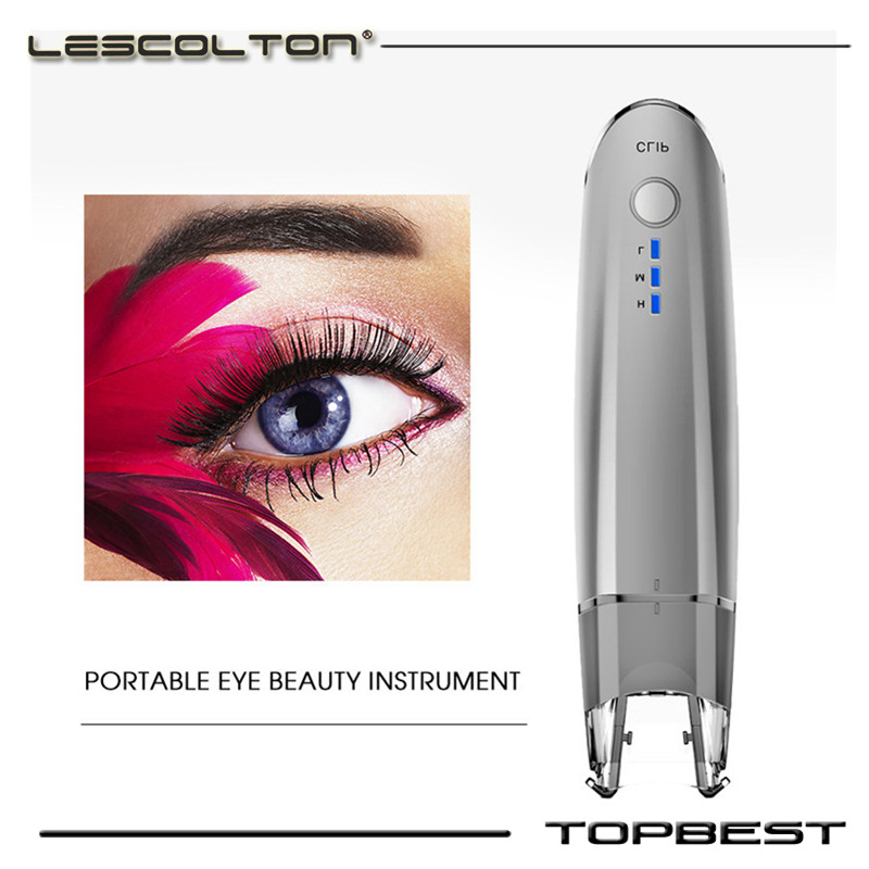 Rechargeable Mini Eye Massager Beauty Electric Anti Wrinkle Anti Aging Bag Dark Circle Vibration Photon Therapy