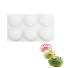Yiwumart 6 Cavity Silicone Cake Mold For Kitchen Baking Dessert Mousse Chocolate Pudding Jelly Bakeware Accessories Tools