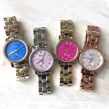 2015 relojes de pulsera de las mujeres de color simple dial pequeño reloj de pulsera casual ginebra relojes mujeres fashions