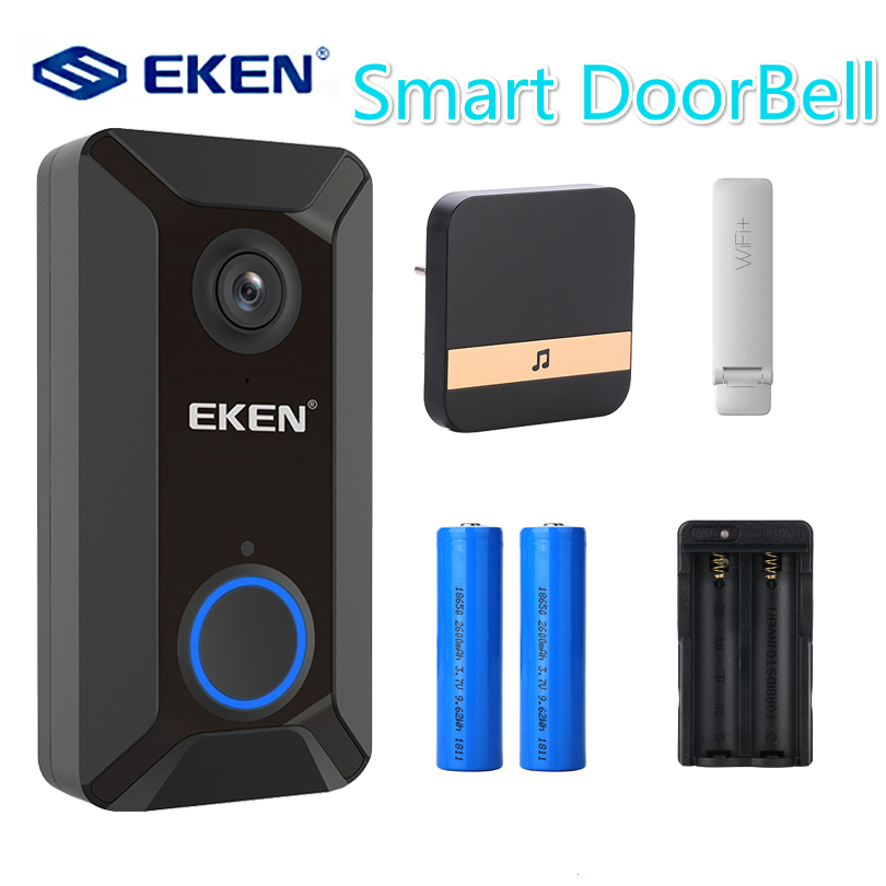 V6 Smart Wireless 720P wifi video Doorbell camera Cloud storage door bell cam waterproof home security house bell