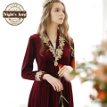 Robes Polyester Velvet Time-limited Top Fashion Dressing Gown 2016 Winter Palace Noble Lace Nightgown Woman Bathrobe Princess