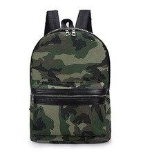 Модные Зеленый Камуфляж Холст Рюкзак минималистский Повседневное школьная сумка Многофункциональный путешествия рюкзак высокое качество