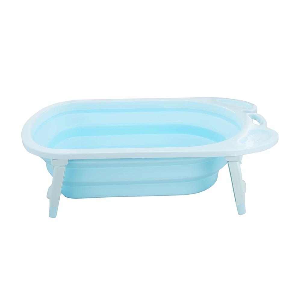 3 Colors Portable Folding Baby Bath Tub Large Size Anti-Slip Bottom Non-Toxic Material Children Bathtub Bucket for Baby Bathing