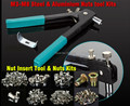 Rivet Nut Tool Kits   M3-M8  160pcs Rivet Nuts + Tool Inserting tools
