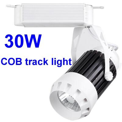 ФОТО COB LED track light 30W 3300LM rail track spot led lights with epistar led light for clothing track lighting fixtures