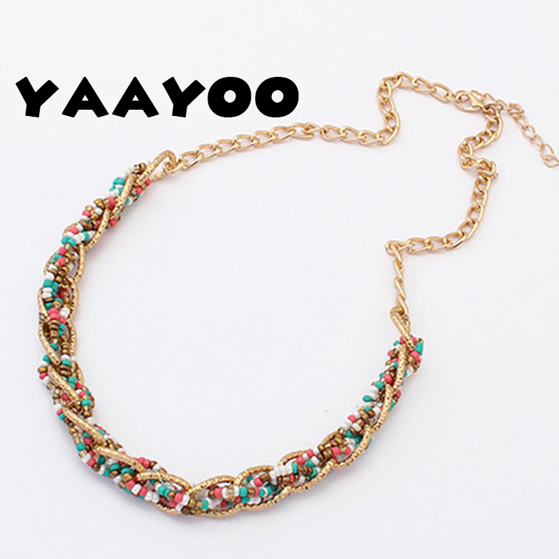 Bohemia Beads Chokers Necklaces & Pendants Statement Necklace Fashion Women Summer Style Simple Jewelry For Gift Party Girl