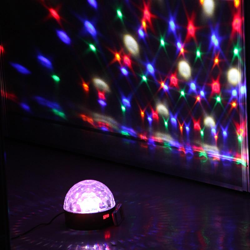 discoteca digital led rgb cristal bola mágica