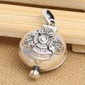 Handmade 925 silver tibetan gau box pendant sterling silver buddhist prayer box pendant gau pendant tibetan jewelry gift