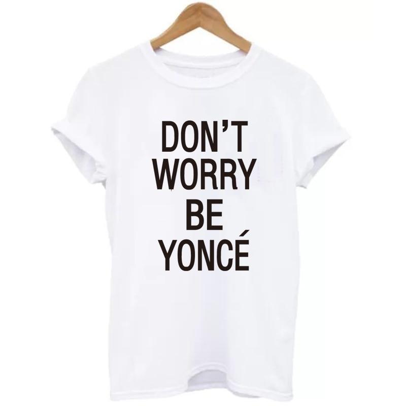 SexeMara 2018 Neu SORGEN SIE NICHT Beyonce Gedrucktes T-Shirt Damen - Damenbekleidung - Foto 2