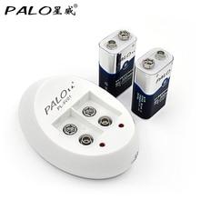 Palo зарядное устройство для 6f22 9 В nicd nimh li-ion аккумуляторы + 2 шт. 9 В 300 мАч bateria аккумуляторные батареи