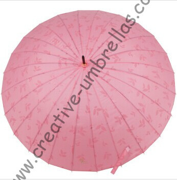 Nouveau style, parapluie droit 24 côtes, parapluies dégradés de couleur, changeant progressivement de couleur, parapluie à nervures cannelées