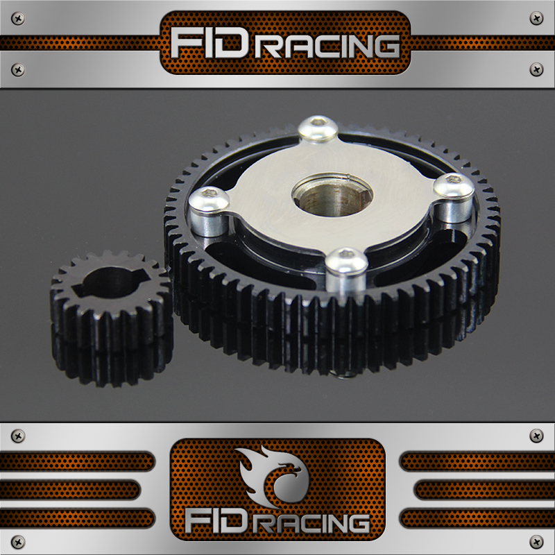 starter gear kit for FID Electric starter losi 5ive t Baja 5b billet rear hub carriers for losi 5ive t