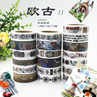 Vintage Washi Tape Retro Planner Washi France Travel Landmarks Washi Scrapbook Supplies Masking Tape Set 19pcs