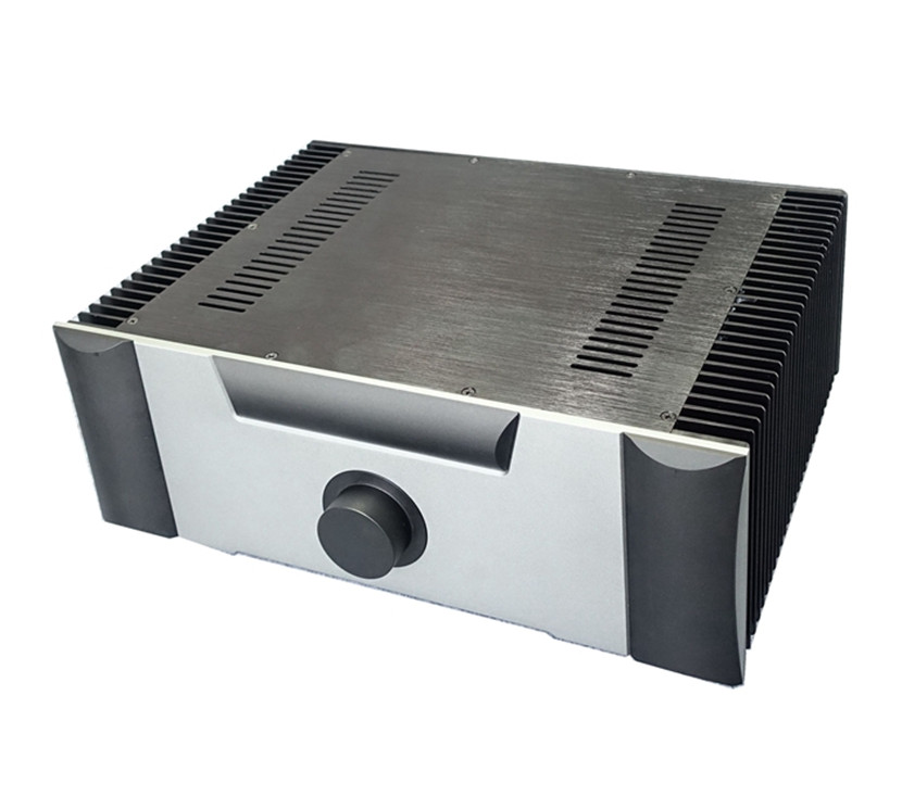 QUEENWAY BZ4315E both sides of the radiator CNC full aluminum hi-end amplifier box/case 430mm*150mm*311mm 430*150*311mm queenway audio 2215 cnc full aluminum amplifier case amp chassis box 221 5mm150mm 311mm 221 5 150 311mm