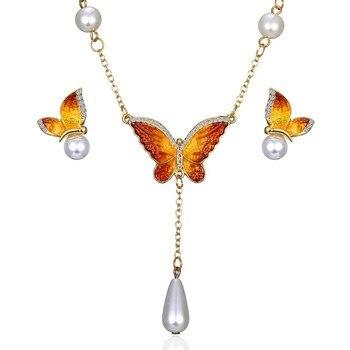 Women's Butterfly Design Jewelry Set Hot Promotions Jewelry Jewelry Sets Women Jewelry Metal Color: 7