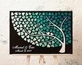 3D Дерево невесты персонализированное имя Свадебный Гость книга, альтернативная деревянная сердце Фирменная Гостевая книга, пользовательс...