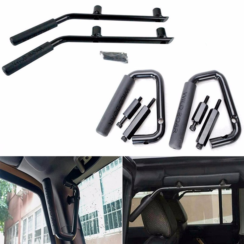 GraBars Grab Bars for Jeep JK Wrangler Unlimited 4 Door Black Front Rear Handle
