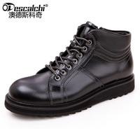 Odescalchi طبقة الأولى من جلد رجل أداة الأحذية الرجال جلد طبيعي منخفضة الأحذية في الكاحل مارتن التمهيد ل mal