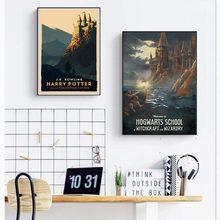 Hogwarts express filme silhueta posters e impressões da arte lona quadros de parede decorativos para sala estar decoração casa pintura