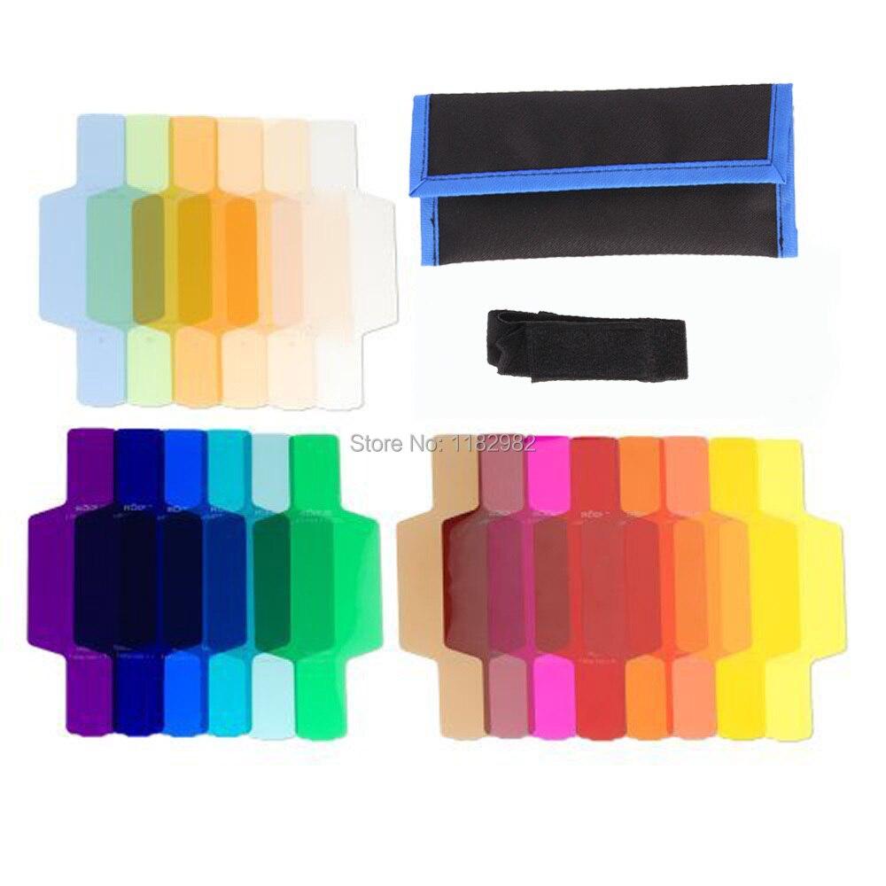 20 Couleur Gels Diffuseur Filtre Flash diffuseur Kit pour Yongnuo Ca @ sur 600EX 580EX 580 EXII 430EX 430 EXII