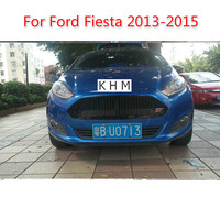 For Ford Fiesta 2013 2015 Abs Front Grille Black Varnish St Refitting Grill Car styling Car covers