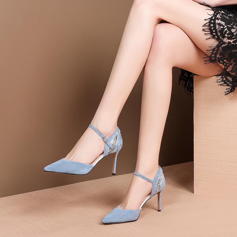 Sandals Women Summer Shoes Women Sandals Summer Footwear Pointed Toe High Heel Shoes Work Shoes in High Heels from Shoes