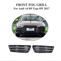 ABS front fog lights hoods mesh grill covers for Audi A4 B9 Type 8W standard bumper only 2017