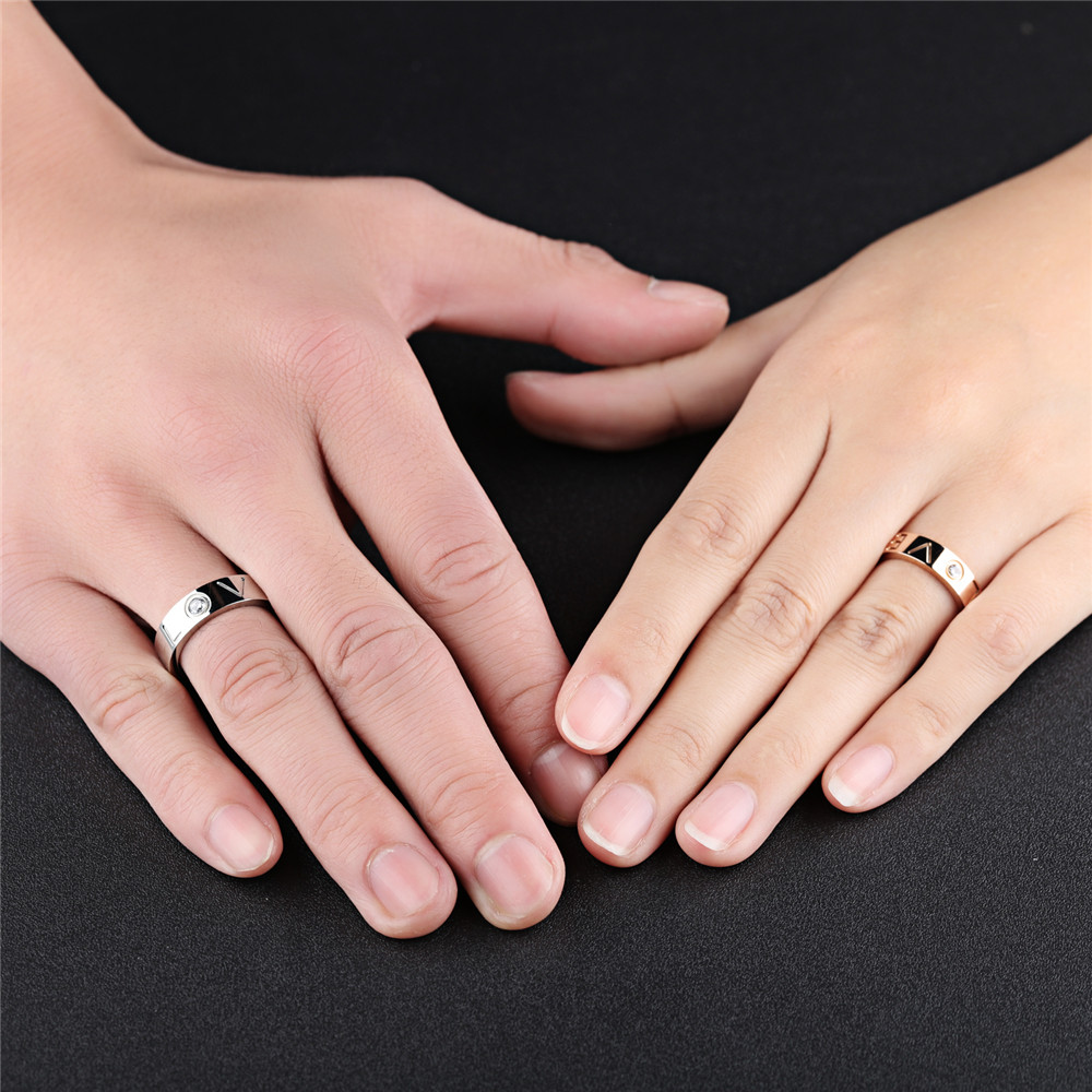 GAGAFEEL Couple Ring Wedding Jewelry For Lover Men Women Finger ...