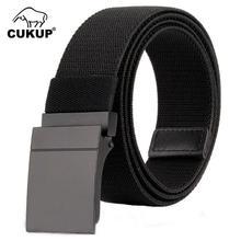 CUKUP 2018 Unisex New Elastic Waistband Belt Zinc Alloy Buck